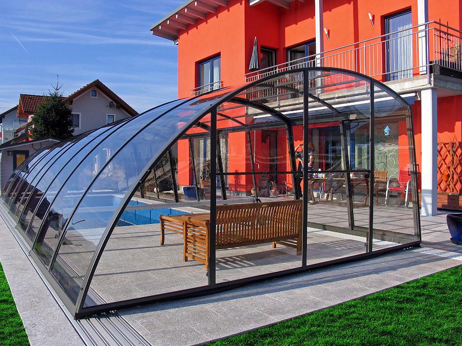 Swimming Pool Enclosures Telescopic Retractable