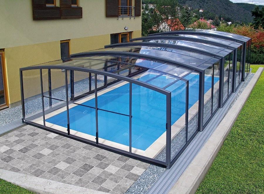 Swimming pool enclosures telescopic retractable - Retractable swimming pool enclosures ...