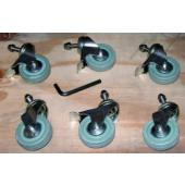 Set of 6 Castors/Wheels for Slidelock Pool Roller