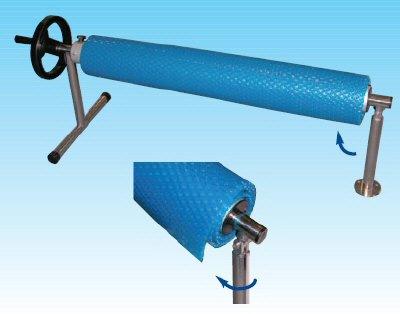 Premium Swivel Swimming Pool Reel Roller (12ft to 18ft Telescopic)